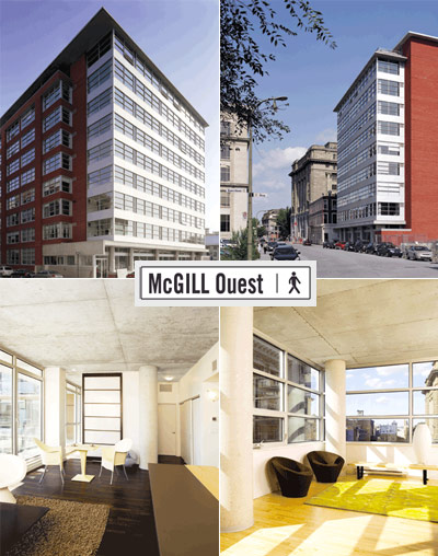 The Urban Capital McGill Ouest Montreal Condos for sale.