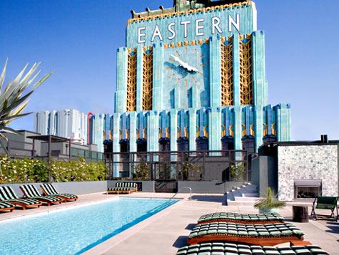 Unique art deco architecture and blue facade make the Eastern Columbia Los Angeles real estate development so impressive.