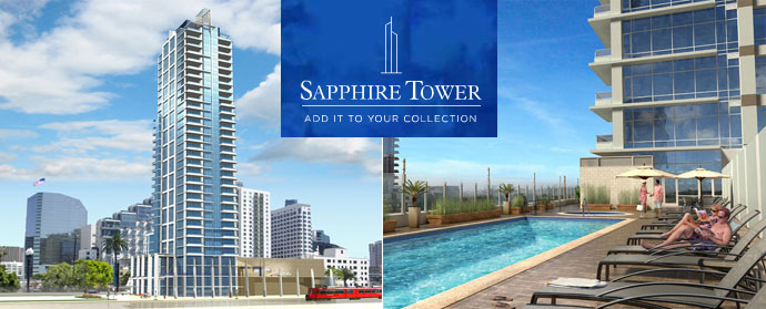 Almost sold out, California homebuyers can purchase The Sapphire Tower San Diego luxury condos for sale right now.