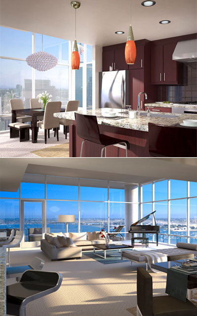 Exclusive San Diego condos at The Sapphire Tower Residences are located in the Columbia District neighborhood.