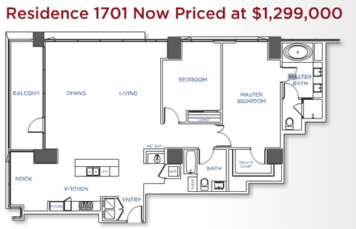 Suite 1701 is the latest San Diego Sapphire Residence Showcase suite.