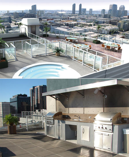 Great onsite amenities at the Urban Housing Partners FHA Approved downtown San Diego Smart Corner Lofts.