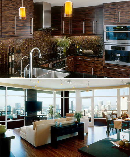 Interior features at the SMARTLofts San Diego Condominiums at Smart Corner Condo High-Rise Tower.
